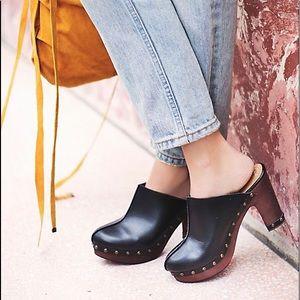Free People 'Brooke' Vegan Leather Slip-On Clogs